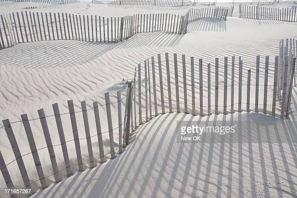 Sand fences, Nantucket Island