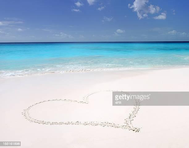 Sand Herz, tropischen Paradies-Strand (XXXL