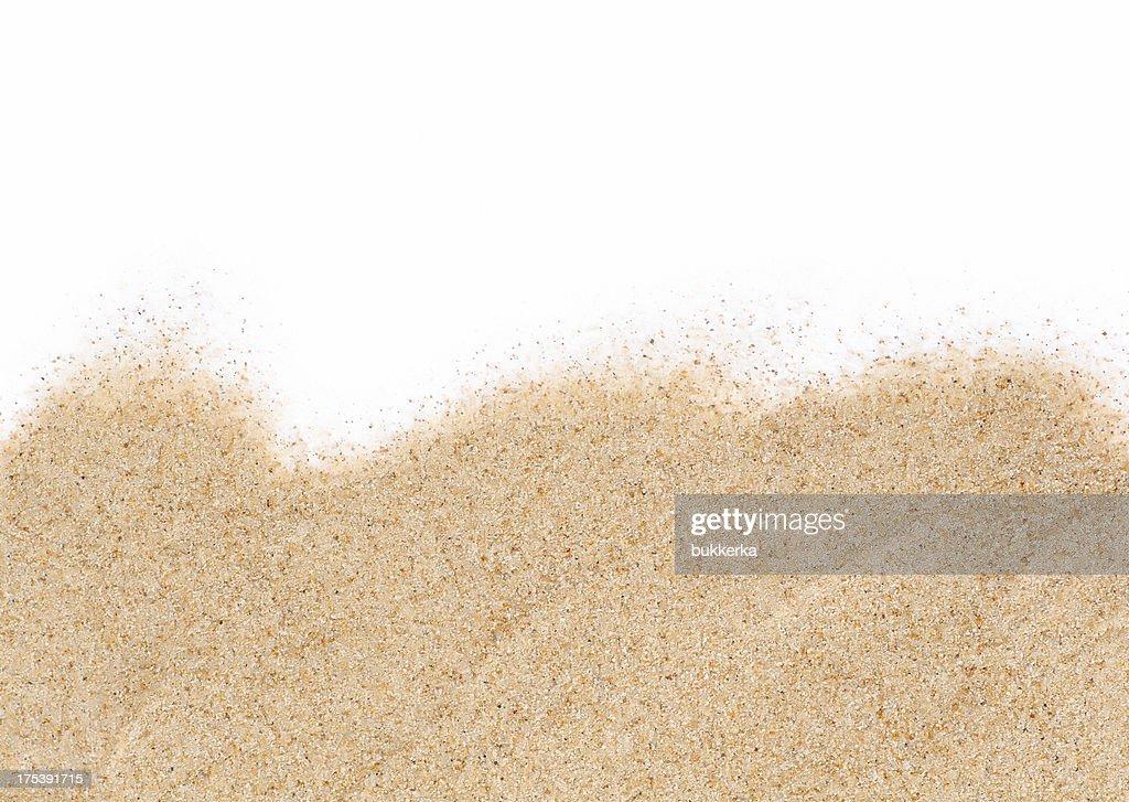 Sand on white background