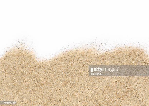 Sabbia su sfondo bianco