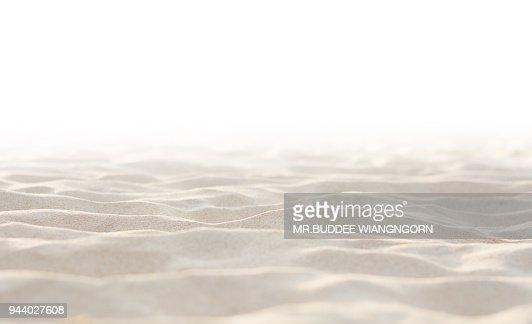 Sand on white background : Stock Photo