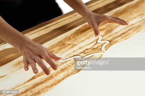 Sand painting creative