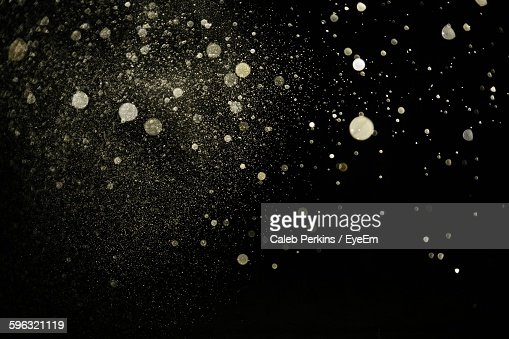 Sand Particles In Mid-Air At Night