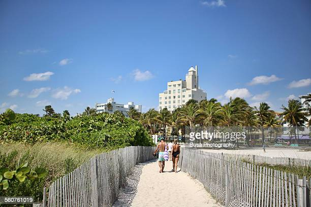 Sand path, beach, Miami Beach