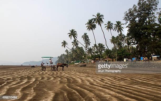 Sand patterns on beach, India