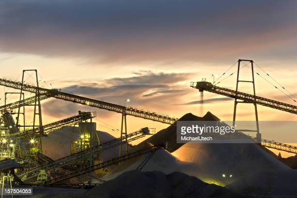 Sand Plant Conveyor Belts With Moody Sky