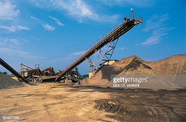 Sand quarry near Vulci Lazio Italy