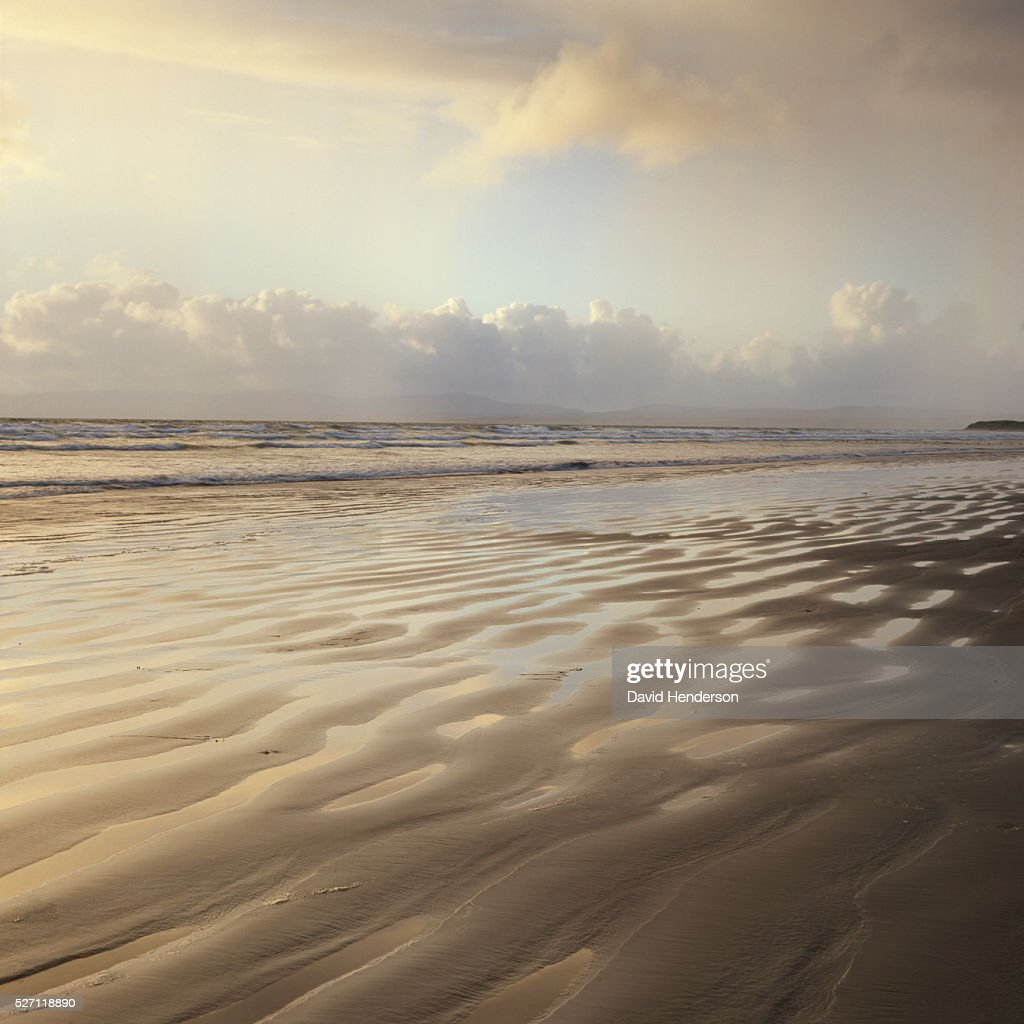 Sand ridges on beach : Foto stock