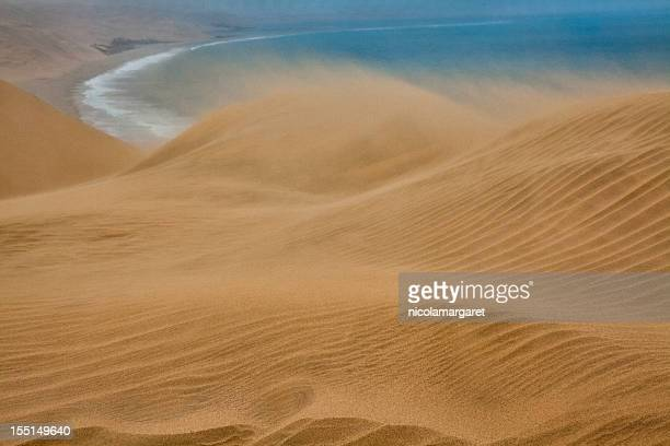 Sand storm on Skeleton Coast, Namibia