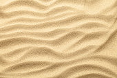 Sand texture for summer background. Copy space. Top view