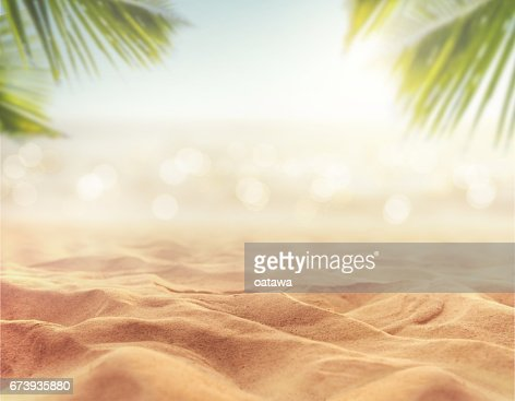 sand with blurred sea sky background, summer day : Stock Photo