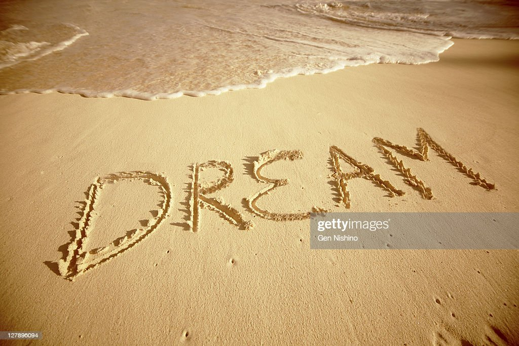 Sand write 'Dream'