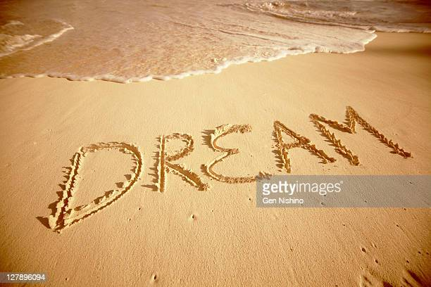 Sand write 'Dream'