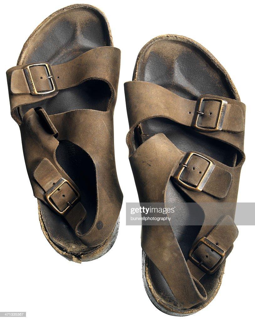 Sandals on white