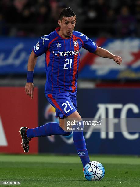 Sandaza of FC Tokyo in action during the AFC Champions League Group E match between FC Tokyo and Becamex Binh Duong at Tokyo Stadium on March 1 2016...