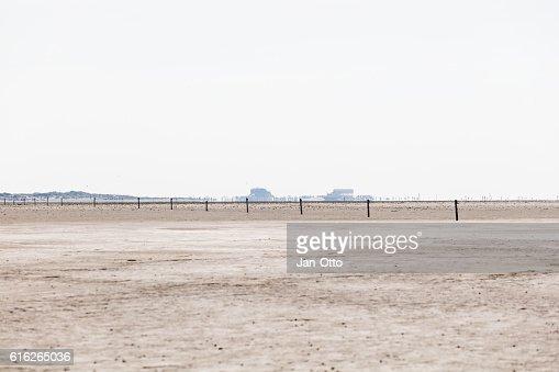 Sandbank of St. Peter-Ording, Germany : Stock Photo