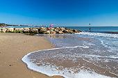 Beautiful golden sandy beach at Sandbanks Dorset England UK Europe