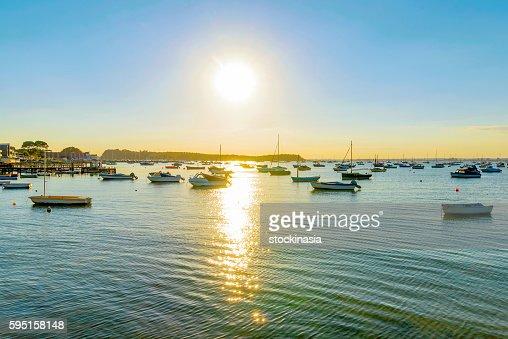 Sandbanks harbor : Stock Photo