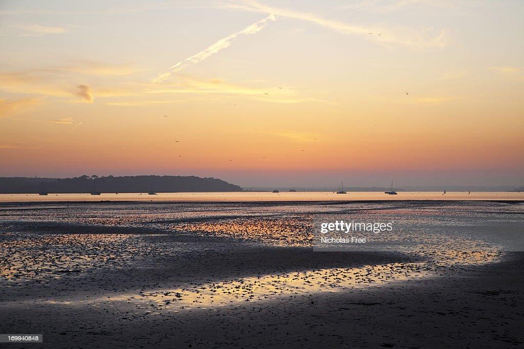 Sandbanks Lowtide Sunset