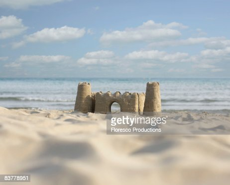 Sandcastle by the beach