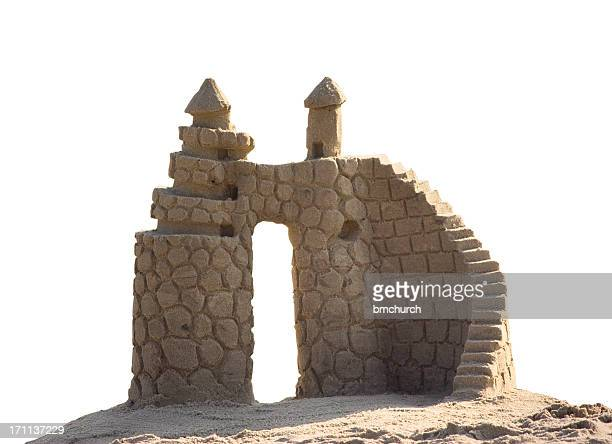 Sandcastle on a white background