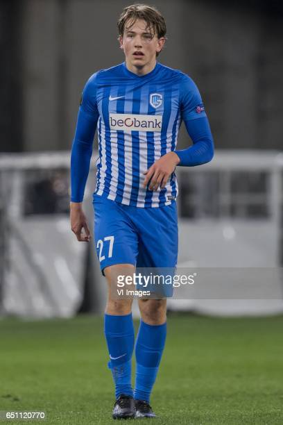 Sander Berge of KRC Genkduring the UEFA Europa League round of 16 match between KAA Gent and KRC Genk on March 09 2017 at the Ghelamco Arena in Gent...