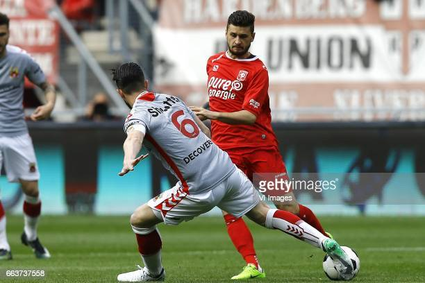 Sander Duits of Go Ahead Eagles Mateusz Klich of FC Twenteduring the Dutch Eredivisie match between FC Twente and Go Ahead Eagles at the Grolsch...