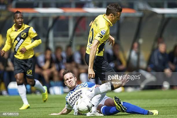 Sander Duits of RKC Waalwijk Uros Matic of NAC Breda during the Dutch Eredivisie match between NAC Breda and RKC Waalwijk at Rat Verlegh stadium on...