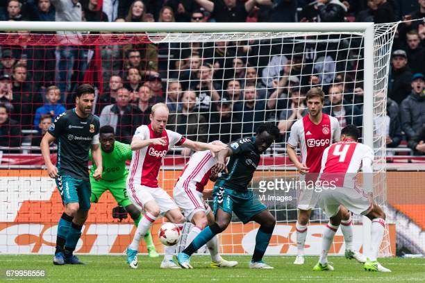 Sander Fischer of Go Ahead Eagles goalkeeper Andre Onana of Ajax Davy Klaassen of Ajax Abdelhak Nouri of Ajax Elvis Manu of Go Ahead Eagles Joel...