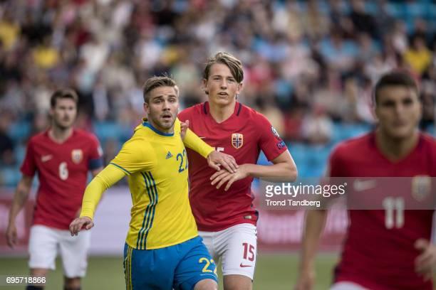 Sander Gard Bolin Berge of Norway during International Friendly between Norway v Sweden at Ullevaal Stadion on June 13 2017 in Oslo Norway