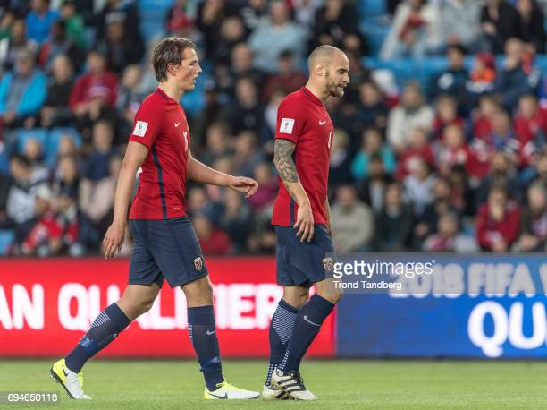 Sander Gard Bolin Berge Tore Reginiussen of Norway during the FIFA 2018 World Cup Qualifier between Czech Republic v Norway at Ullevaal Stadion on...