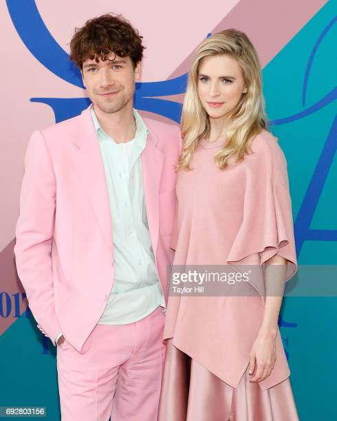Sander Lak and Brit Marling the 2017 CFDA Fashion Awards at Hammerstein Ballroom on June 5 2017 in New York City