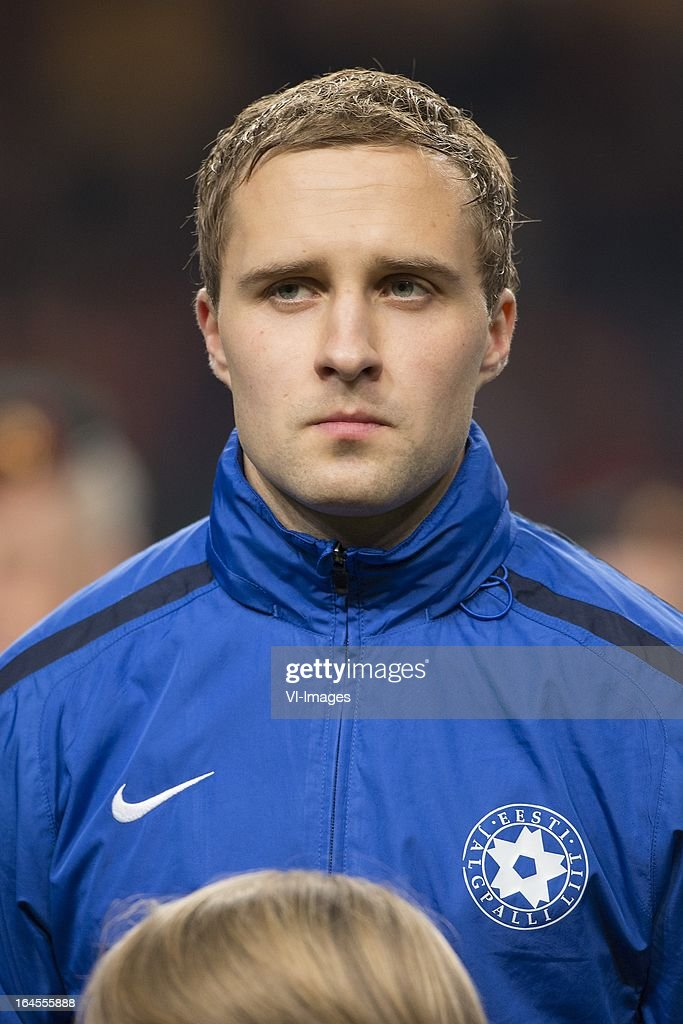 Sander Puri of Estonia during the FIFA 2014 World Cup qualifier match between the Netherlands and Estonia at the Amsterdam Arena on march 22, 2013 in Amsterdam, The Netherlands