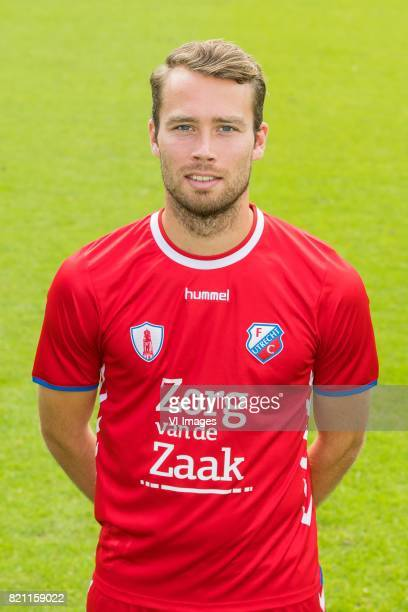 Sander van de Streek during the team presentation of FC Utrecht on July 22 2017 at Sportcomplex Zoudenbalch in Utrecht The Netherlands