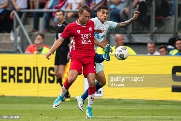 Sander van de Streek of FC Utrecht Leandro Paredes of FK Zenit St Petersburg during the UEFA Europa League fourth round qualifying first leg match...