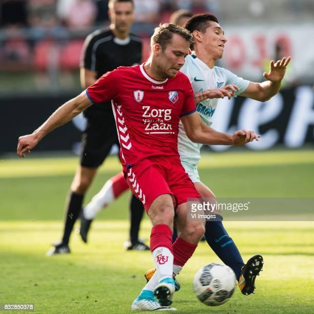 Sander van de Streek of FC Utrecht Matias Kranevitter of FK Zenit St Petersburg during the UEFA Europa League fourth round qualifying first leg match...