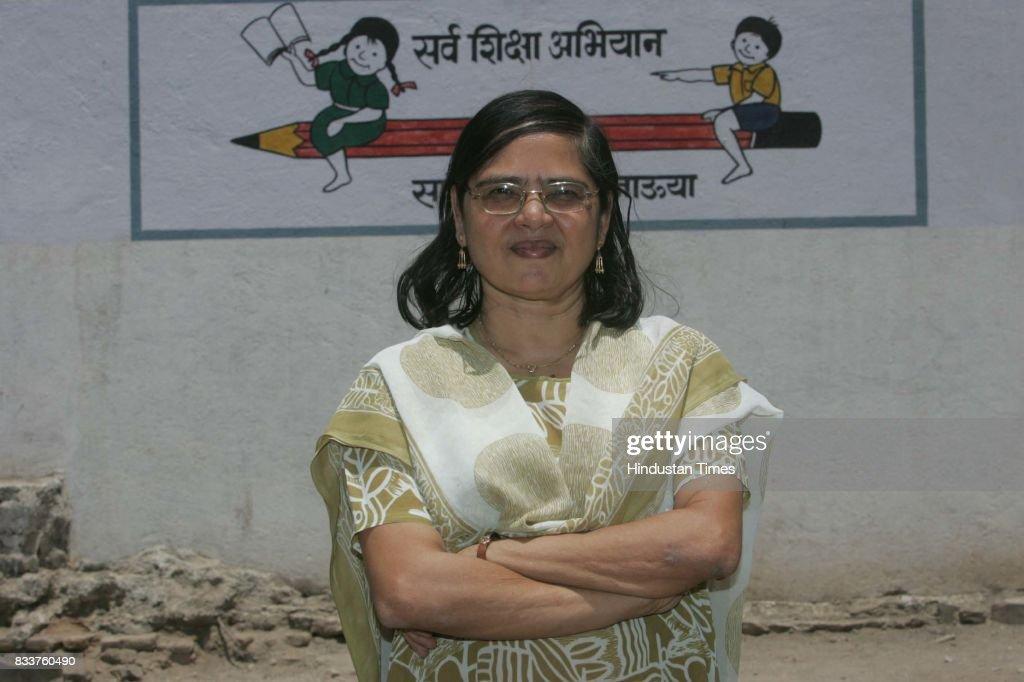 Sandhya Mayur, Secretary of the Chopada Education Trust Jalgaon. The trust run by Gujarati Hindus is one of its kind in the state which runs an Urdu school.