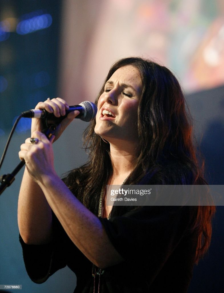 Sandi Thom performs at the BT Digital Music Awards at the Roundhouse on October 3 2006 in London England