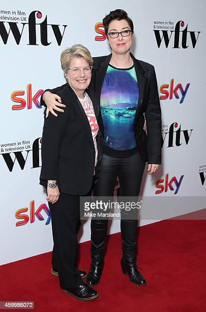 Sandi Toksvig and Sue Perkins attend the Sky Women In Film and TV Awards at London Hilton on December 5 2014 in London England