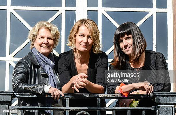 Sandi Toksvig Sophie Walker Catherine Mayer at the Women's Equality Party policy launch on October 20 2015 in London England The new political party...