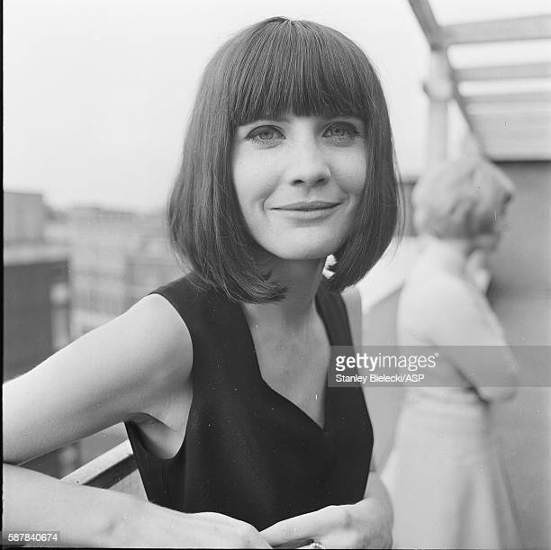 Sandie Shaw at a press event London 1965