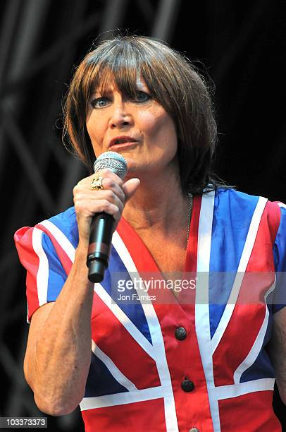 Sandie Shaw performs at day one of Vintage at Goodwood on August 13 2010 in Chichester England
