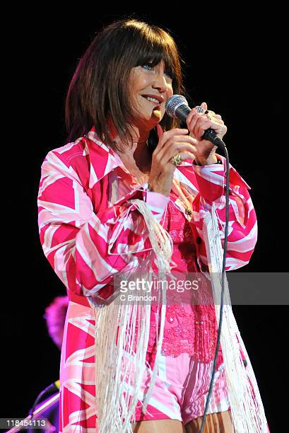 Sandie Shaw performs on stage during Kew The Music Festival at Kew Gardens on July 7 2011 in London United Kingdom
