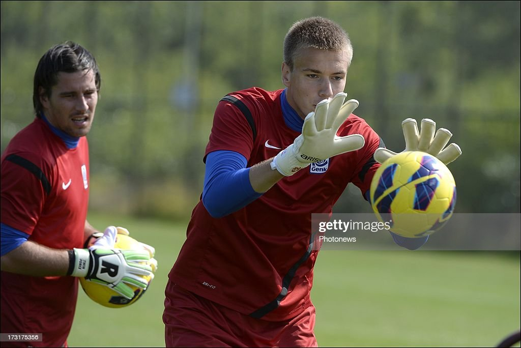 Sandomierski of KRC Genk during a KRC Genk summer camp training session on July 09 , 2013 in Tegelen, Netherlands.