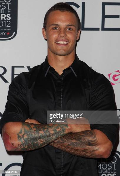 Sandor Earl arrives at the 2012 Cleo Bachelor Of The Year crowning at Marquee at the Crown on April 18 2012 in Sydney Australia