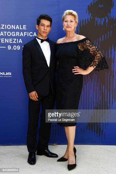 Sandor Funtek and Trine Dyrholm walk the red carpet ahead of the 'Nico 1988' screening during the 74th Venice Film Festival at Sala Darsena on August...
