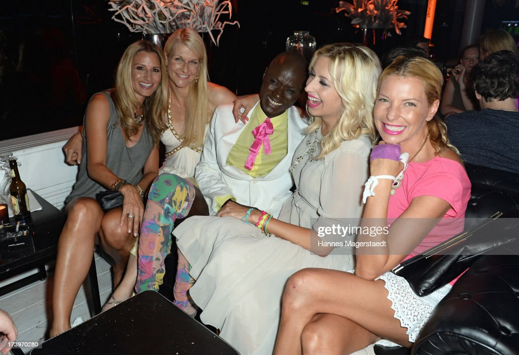 Sandra Abt, Natascha Gruen, Papis Loveday, Verena Kerth and Giulia Siegel attend the Verena Kerth birthday party at P1 on July 18, 2013 in Munich, Germany. Kerth also celebrated the release of the new Playboy issue with her on the cover.