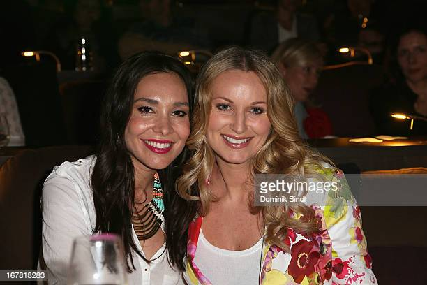 Sandra Ahrabian and Eva Gruenbauer attend 'Add a Friend' Preview Event of TNT Serie at Bayerischer Hof on April 30 2013 in Munich Germany The second...