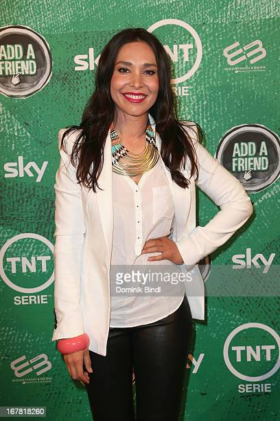 Sandra Ahrabian attends 'Add a Friend' Preview Event of TNT Serie at Bayerischer Hof on April 30 2013 in Munich Germany The second season series...
