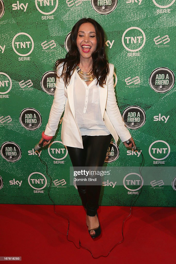 Sandra Ahrabian attends 'Add a Friend' Preview Event of TNT Serie at Bayerischer Hof on April 30, 2013 in Munich, Germany. The second season series premieres on May 6 (every Monday at 8:15 pm on TNT Serie).